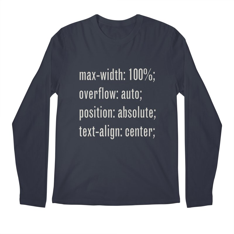 100% Absolute Men's Longsleeve T-Shirt by Variable Tees