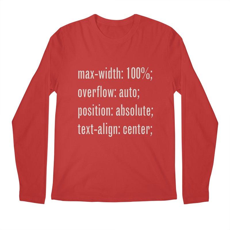 100% Absolute Men's Regular Longsleeve T-Shirt by Variable Tees