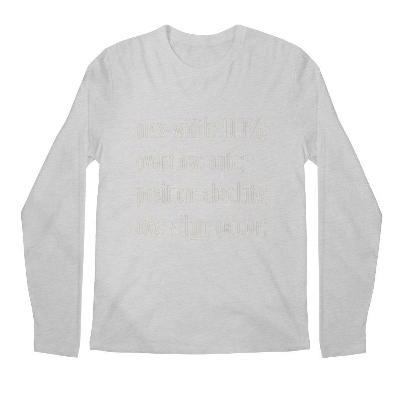 100% Absolute Men's Longsleeve T-Shirt by Variable Tees