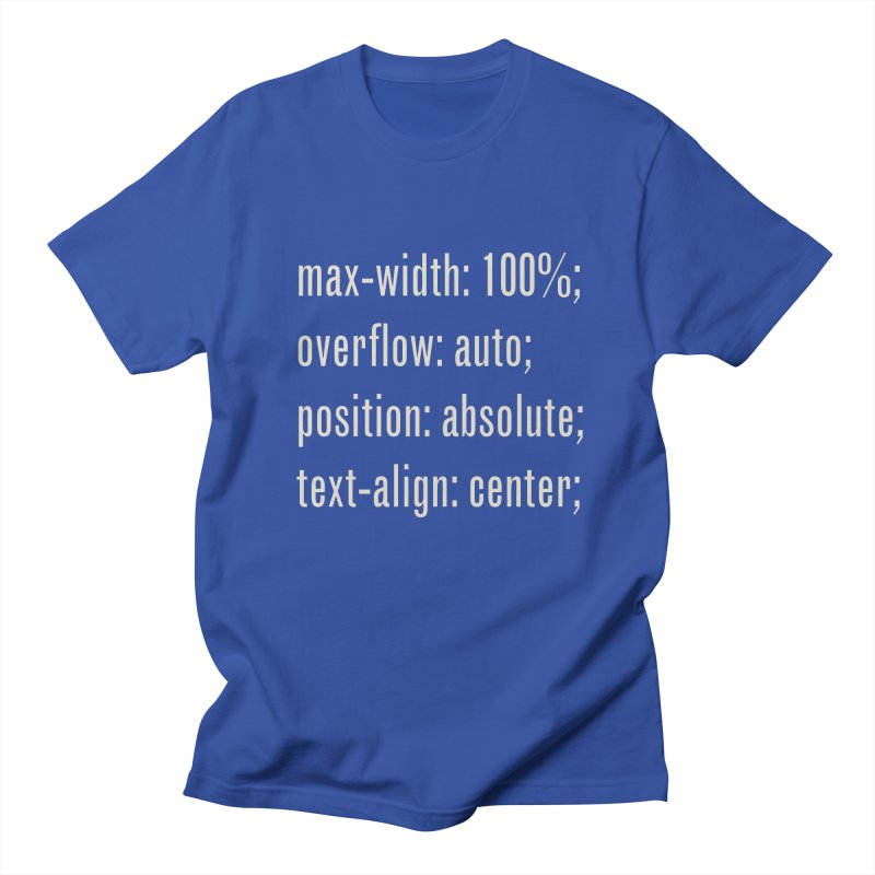 100% Absolute Men's Regular T-Shirt by Variable Tees