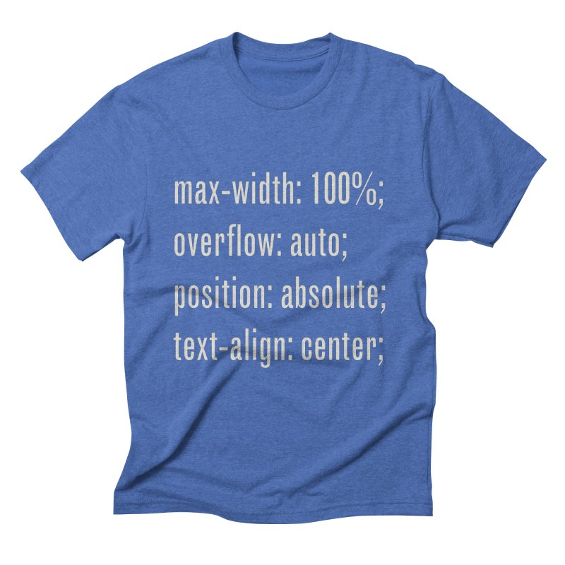 100% Absolute Men's Triblend T-shirt by Variable Tees