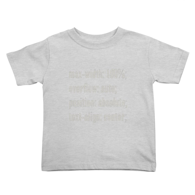 100% Absolute Kids Toddler T-Shirt by Variable Tees