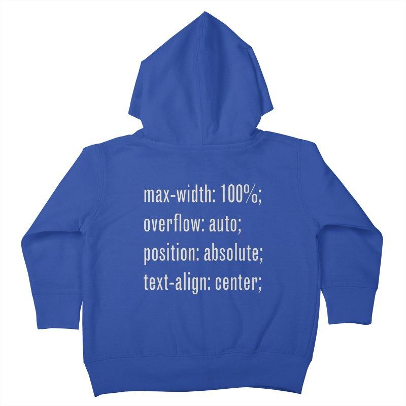 100% Absolute Kids Toddler Zip-Up Hoody by Variable Tees