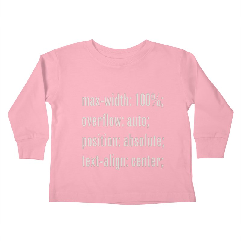 100% Absolute Kids Toddler Longsleeve T-Shirt by Variable Tees