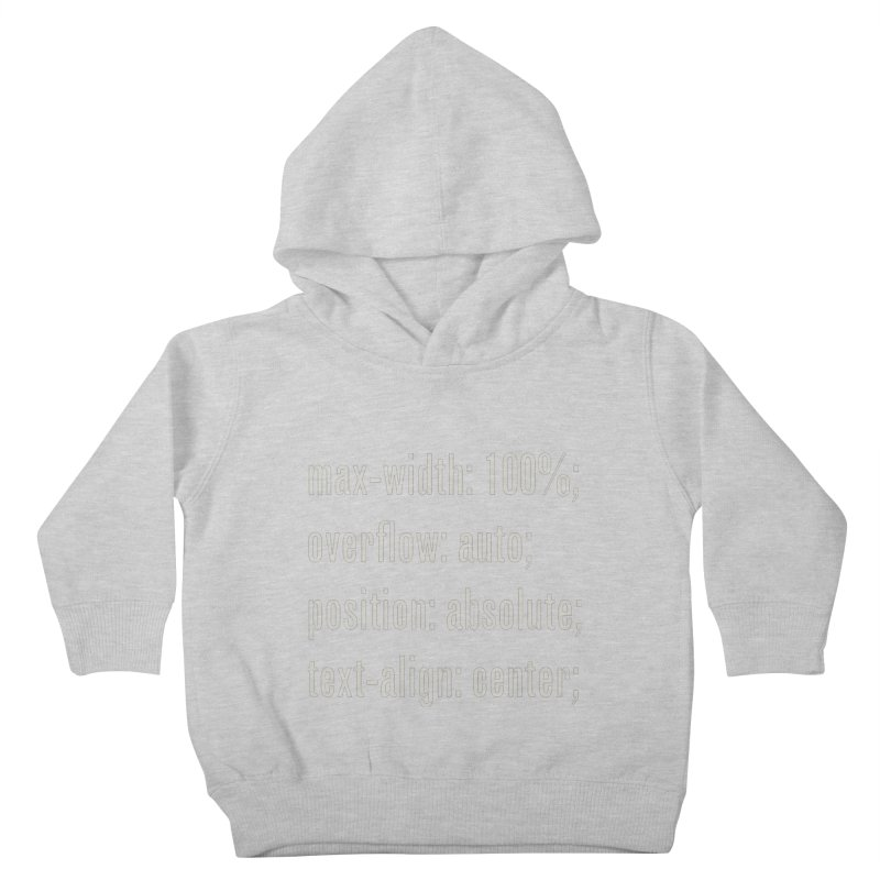 100% Absolute Kids Toddler Pullover Hoody by Variable Tees