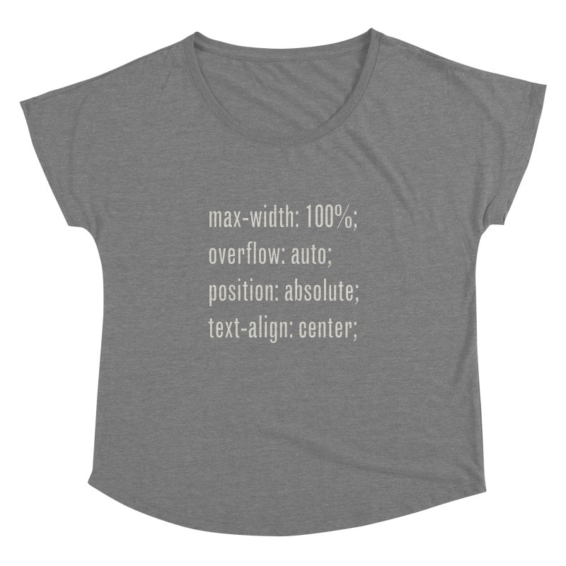 100% Absolute Women's Dolman by Variable Tees