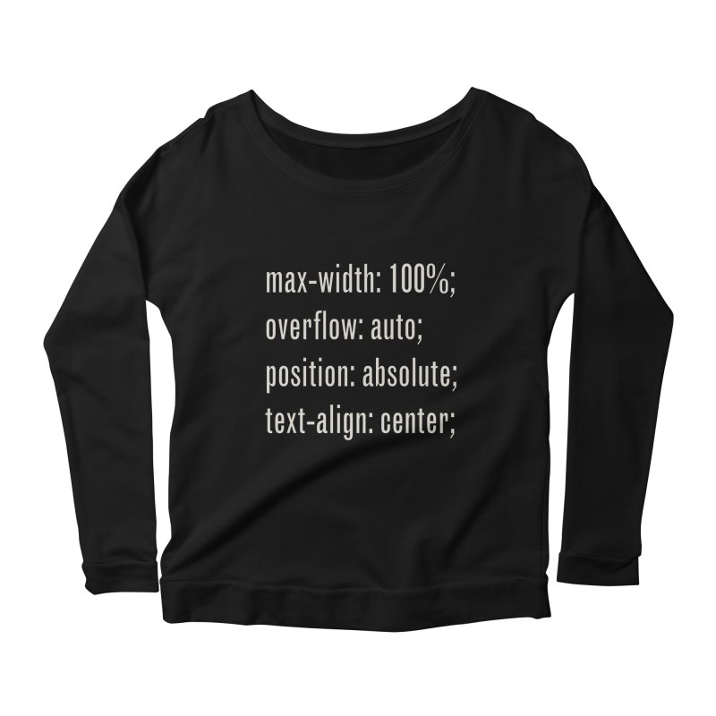 100% Absolute Women's Scoop Neck Longsleeve T-Shirt by Variable Tees