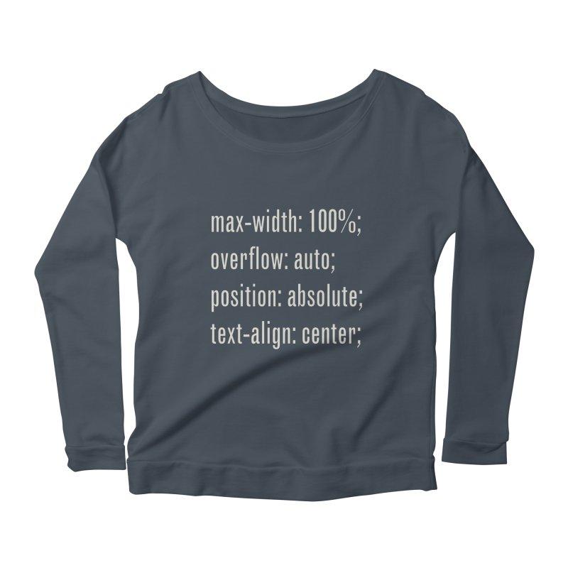 100% Absolute Women's Longsleeve Scoopneck  by Variable Tees