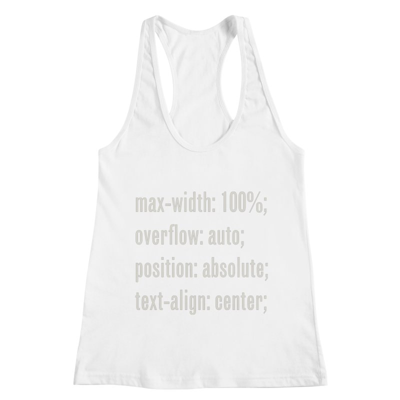 100% Absolute Women's Racerback Tank by Variable Tees