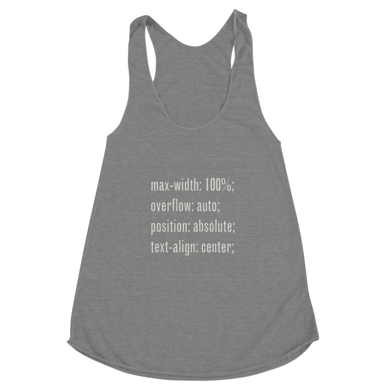 100% Absolute Women's Racerback Triblend Tank by Variable Tees