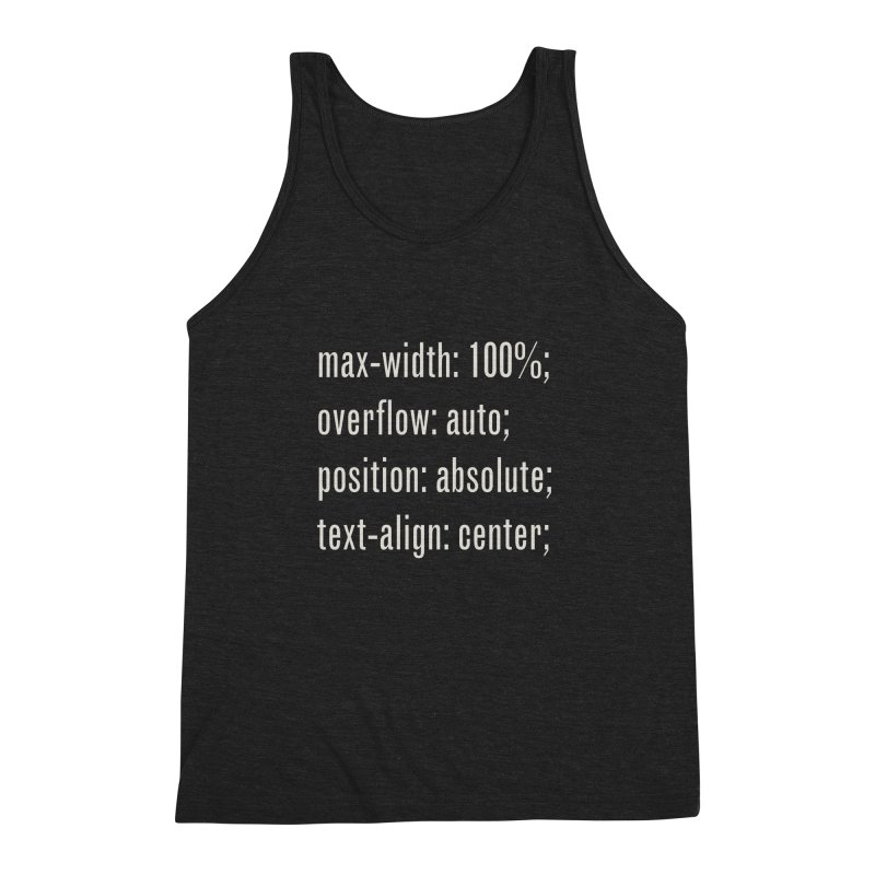 100% Absolute Men's Triblend Tank by Variable Tees