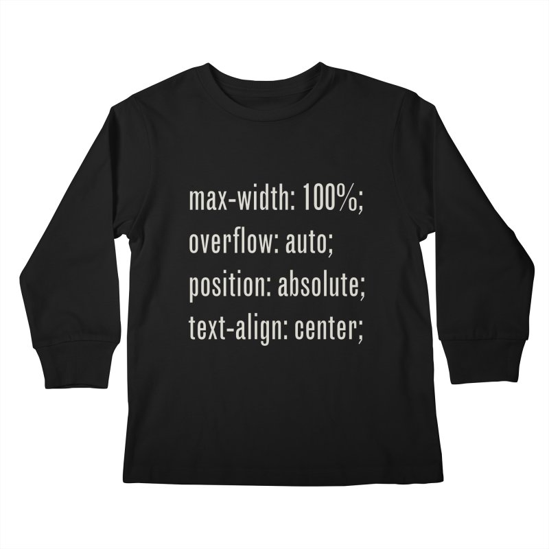100% Absolute Kids Longsleeve T-Shirt by Variable Tees