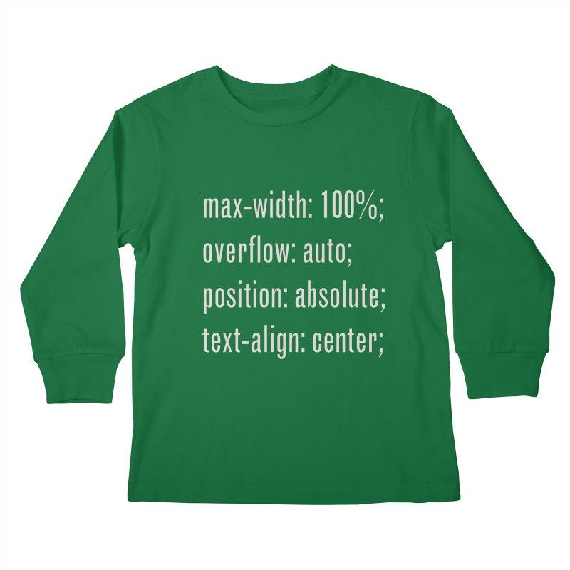 100% Absolute Kids Longsleeve T-Shirt by Variable Tees