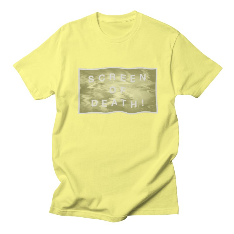 Screen of Death! Men's Regular T-Shirt by Variable Tees