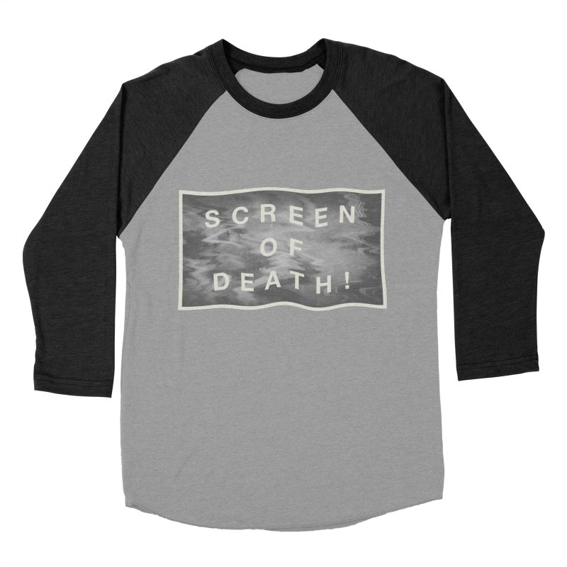 Screen of Death! Men's Baseball Triblend Longsleeve T-Shirt by Variable Tees