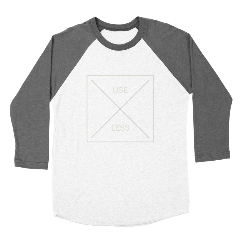 USELESS X Women's Baseball Triblend Longsleeve T-Shirt by Variable Tees