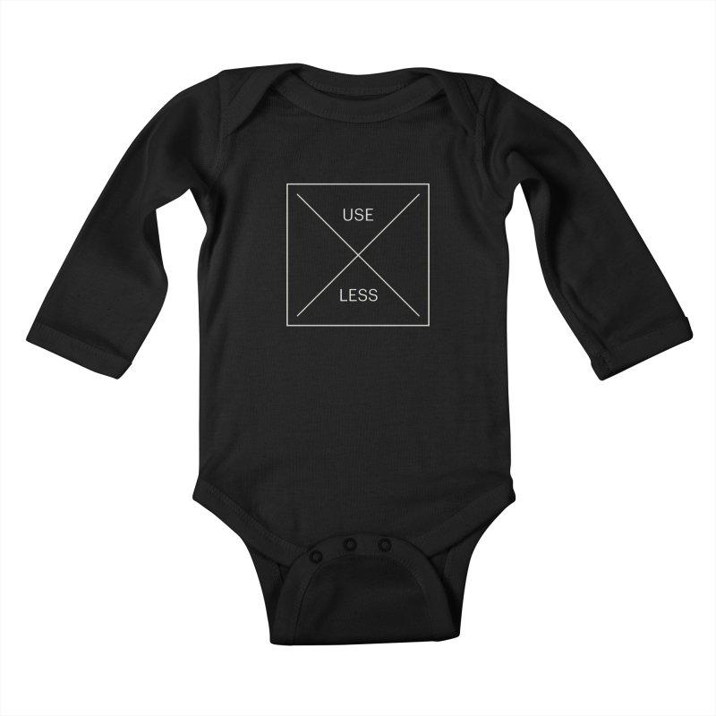 USELESS X Kids Baby Longsleeve Bodysuit by Variable Tees