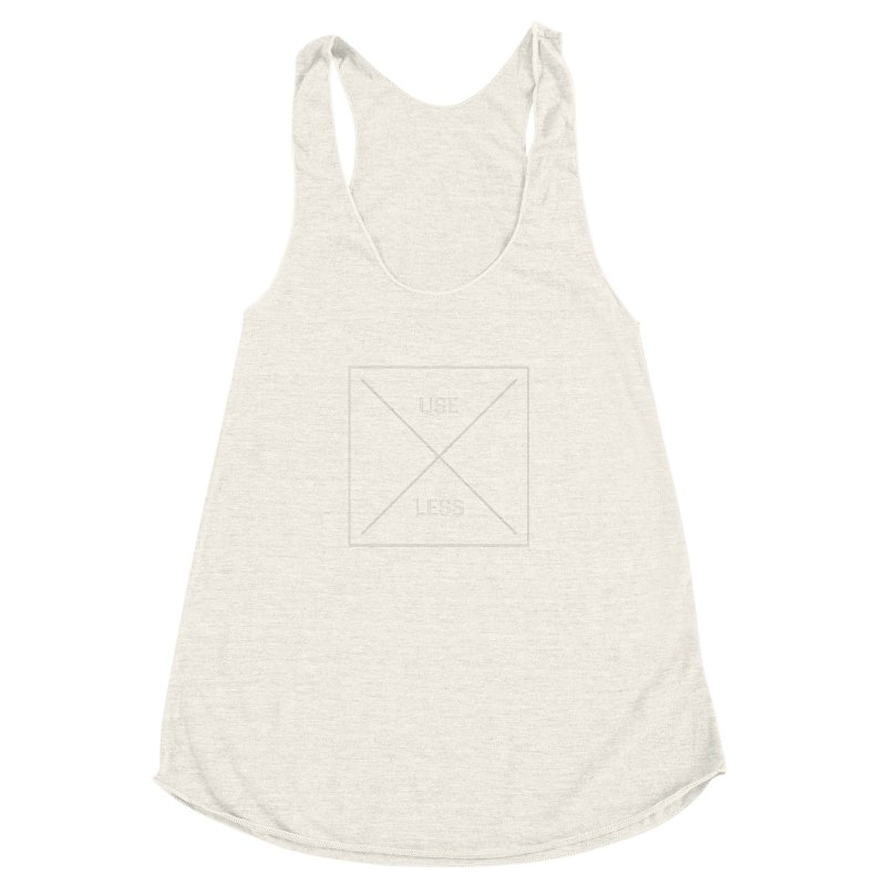 USELESS X Women's Racerback Triblend Tank by Variable Tees