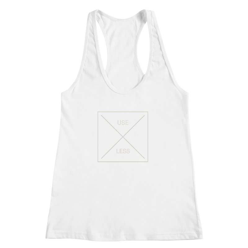 USELESS X Women's Racerback Tank by Variable Tees