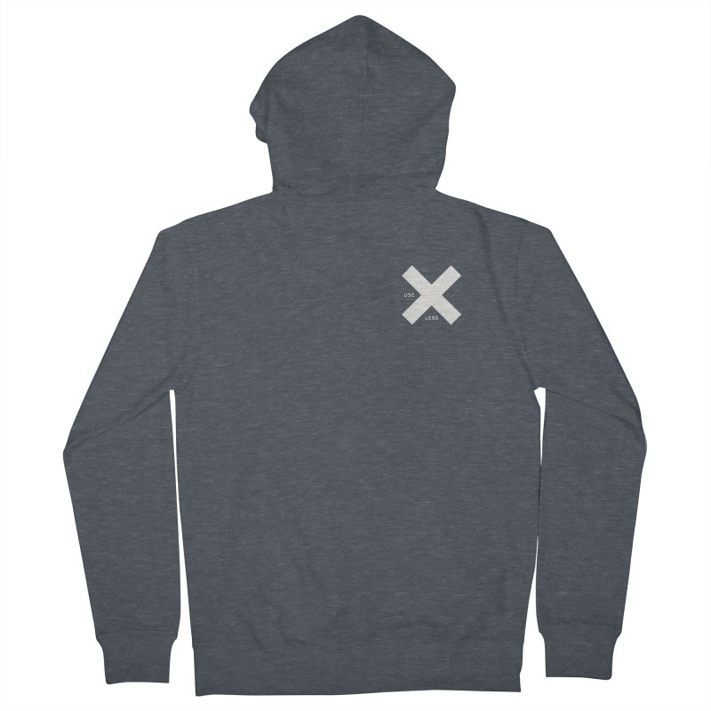 USE LESS X Men's Zip-Up Hoody by Variable Tees