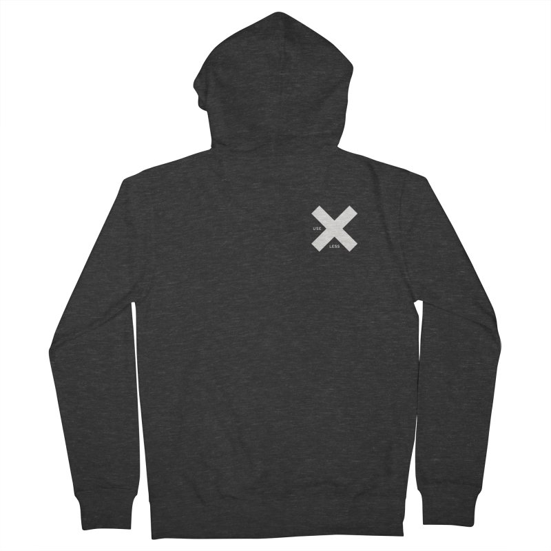 USE LESS X Men's French Terry Zip-Up Hoody by Variable Tees