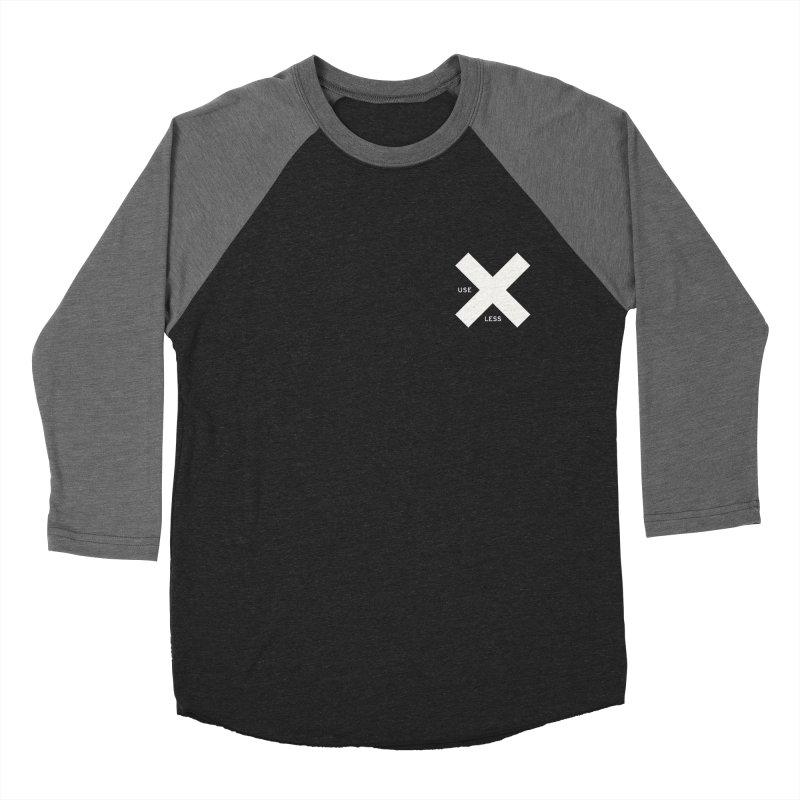 USE LESS X Women's Baseball Triblend Longsleeve T-Shirt by Variable Tees