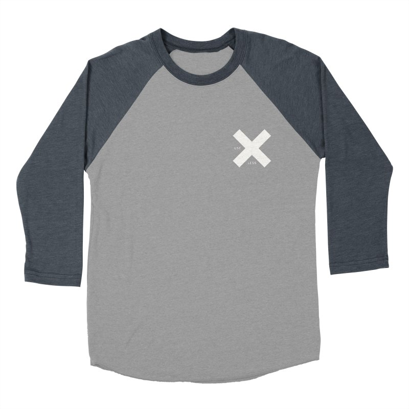 USE LESS X Men's Baseball Triblend T-Shirt by Variable Tees