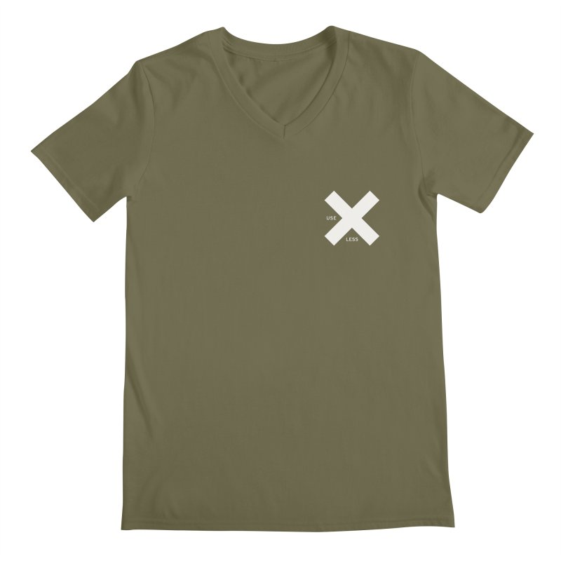 USE LESS X Men's V-Neck by Variable Tees