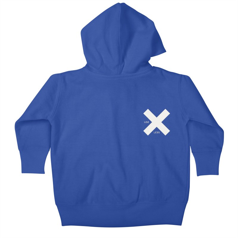 USE LESS X Kids Baby Zip-Up Hoody by Variable Tees