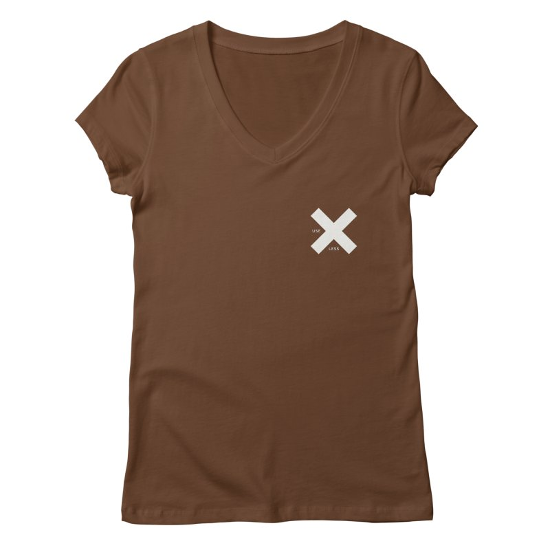 USE LESS X Women's Regular V-Neck by Variable Tees