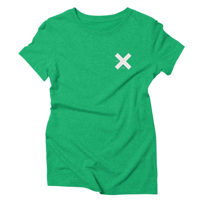 USE LESS X Women's Triblend T-Shirt by Variable Tees