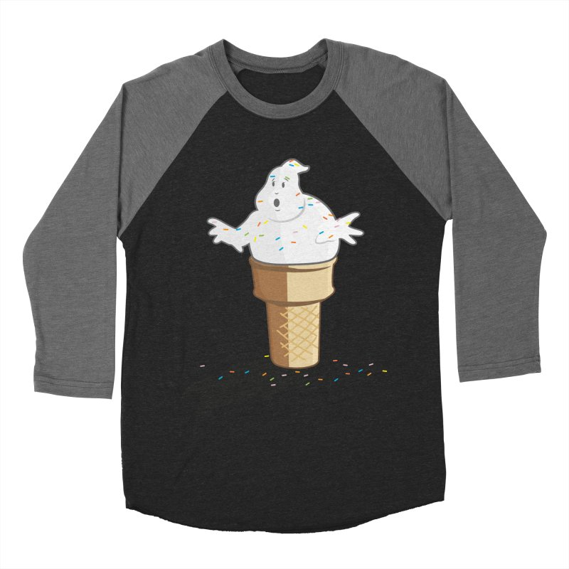 Ice Scream  Women's Baseball Triblend Longsleeve T-Shirt by VarieTeez Designs