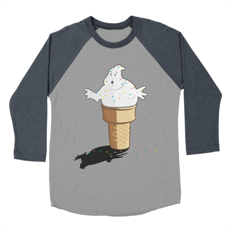 Ice Scream  Women's Baseball Triblend Longsleeve T-Shirt by VarieTeez Designs