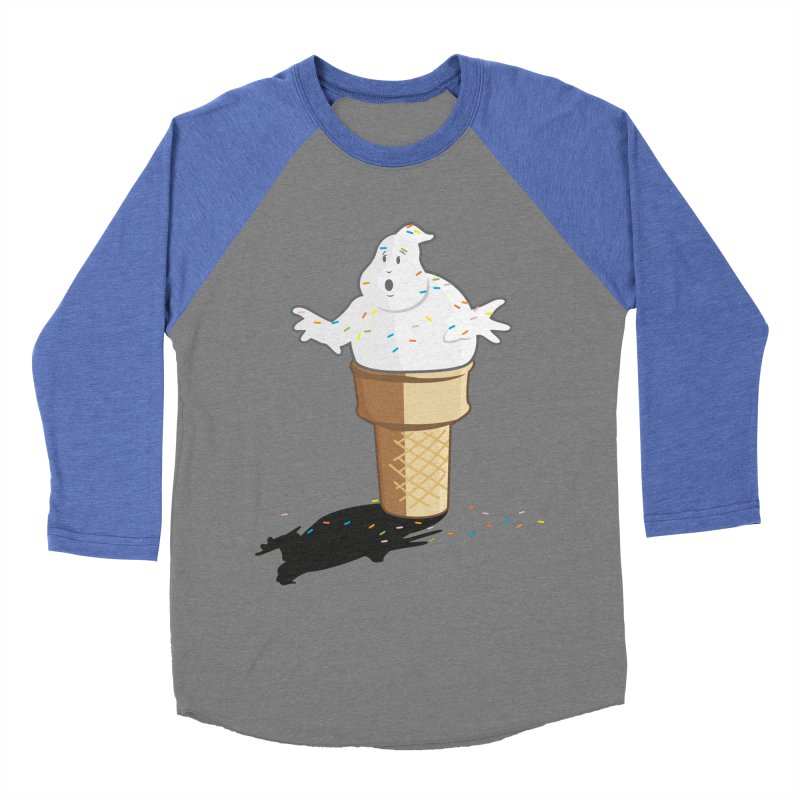Ice Scream  Men's Baseball Triblend Longsleeve T-Shirt by VarieTeez Designs
