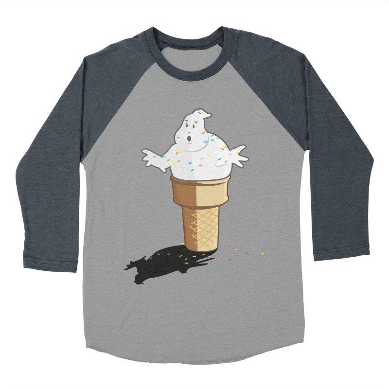 Ice Scream  Men's Baseball Triblend Longsleeve T-Shirt by VarieTeez Designs