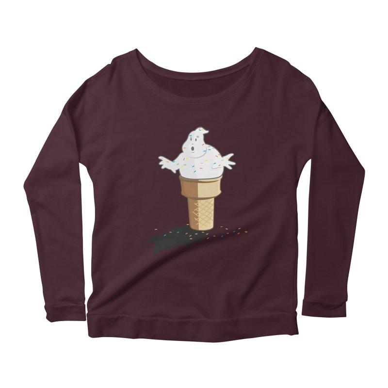 Ice Scream  Women's Scoop Neck Longsleeve T-Shirt by VarieTeez Designs