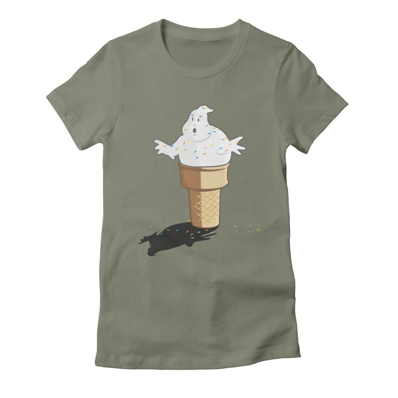 Ice Scream  Women's Fitted T-Shirt by VarieTeez Designs