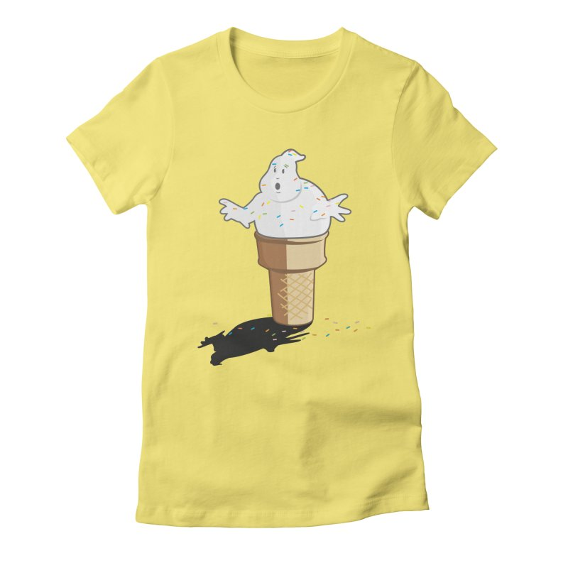 Ice Scream  Women's Fitted T-Shirt by VarieTeez's Artist Shop