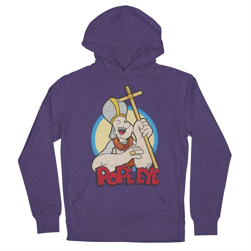 Pope Eye Women's French Terry Pullover Hoody by VarieTeez Designs