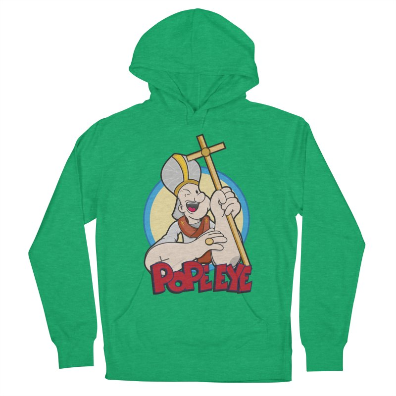 Pope Eye Men's French Terry Pullover Hoody by VarieTeez Designs