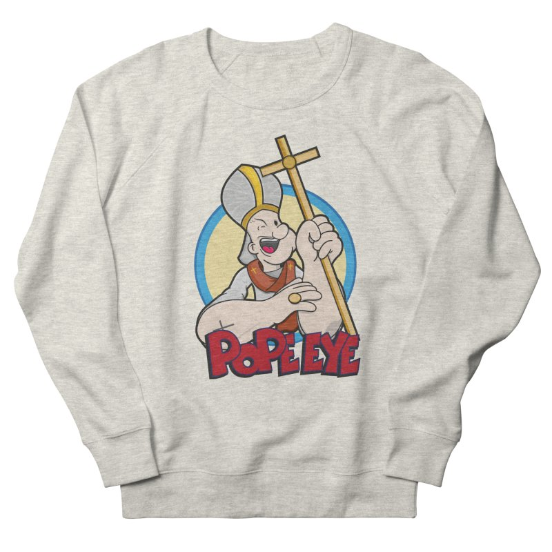 Pope Eye Men's French Terry Sweatshirt by VarieTeez Designs
