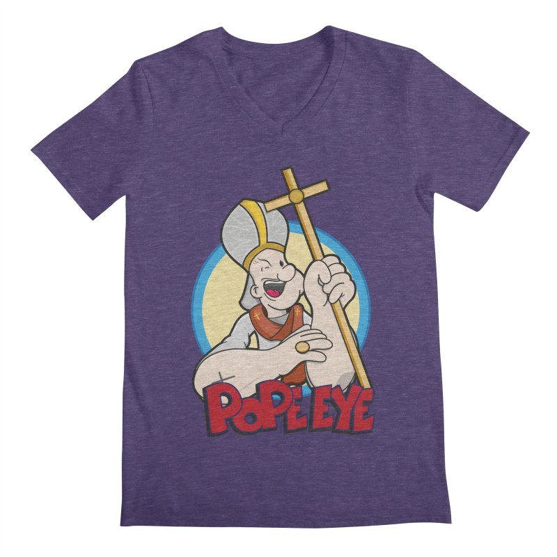 Pope Eye Men's Regular V-Neck by VarieTeez Designs