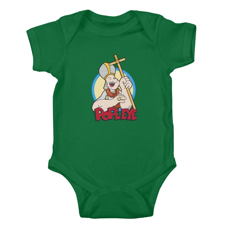 Pope Eye Kids Baby Bodysuit by VarieTeez Designs