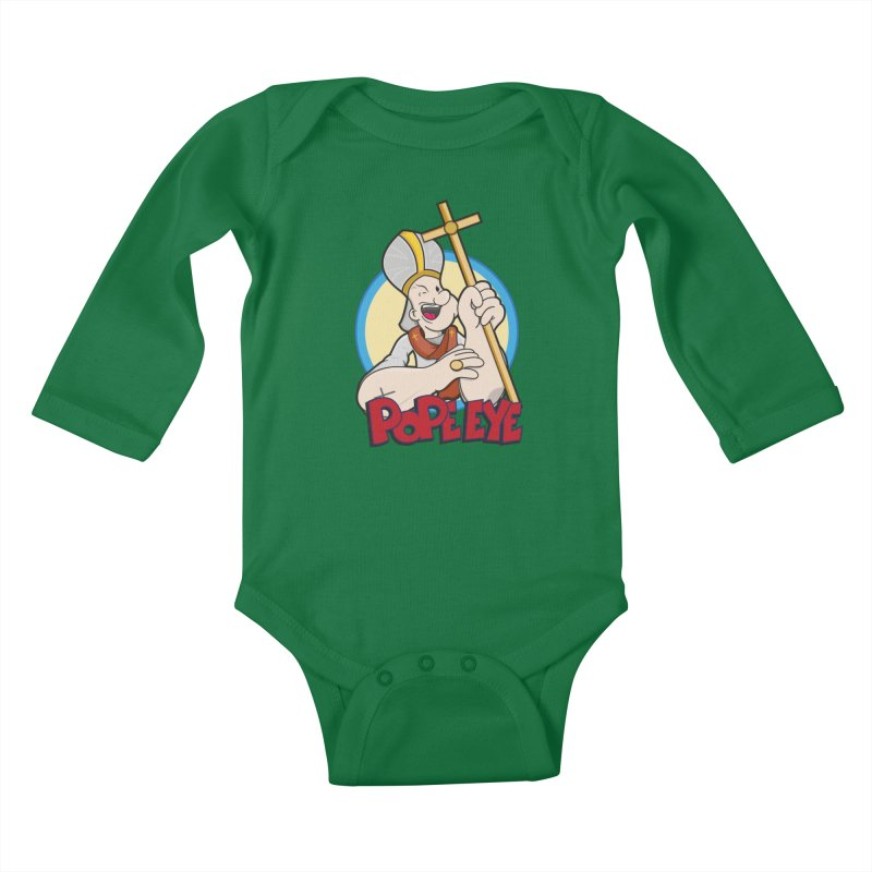 Pope Eye Kids Baby Longsleeve Bodysuit by VarieTeez Designs