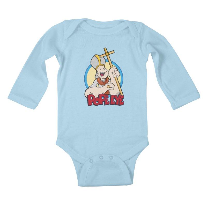 Pope Eye Kids Baby Longsleeve Bodysuit by VarieTeez Designs