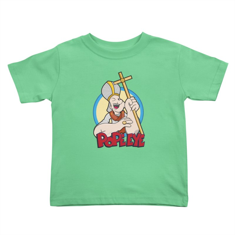 Pope Eye Kids Toddler T-Shirt by VarieTeez Designs