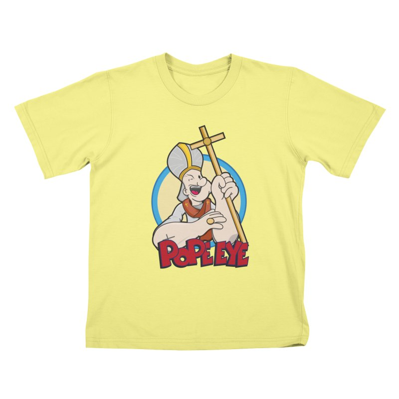 Pope Eye Kids T-shirt by VarieTeez Designs