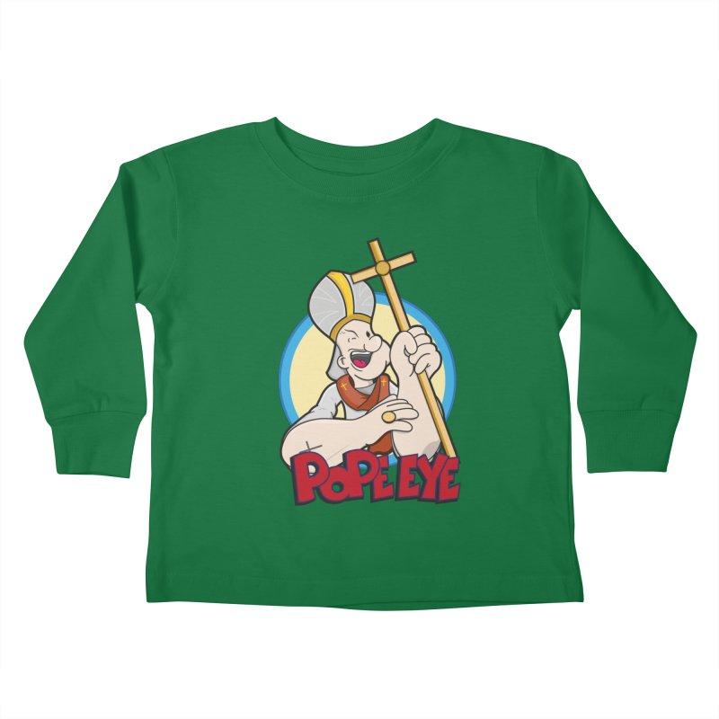 Pope Eye Kids Toddler Longsleeve T-Shirt by VarieTeez's Artist Shop