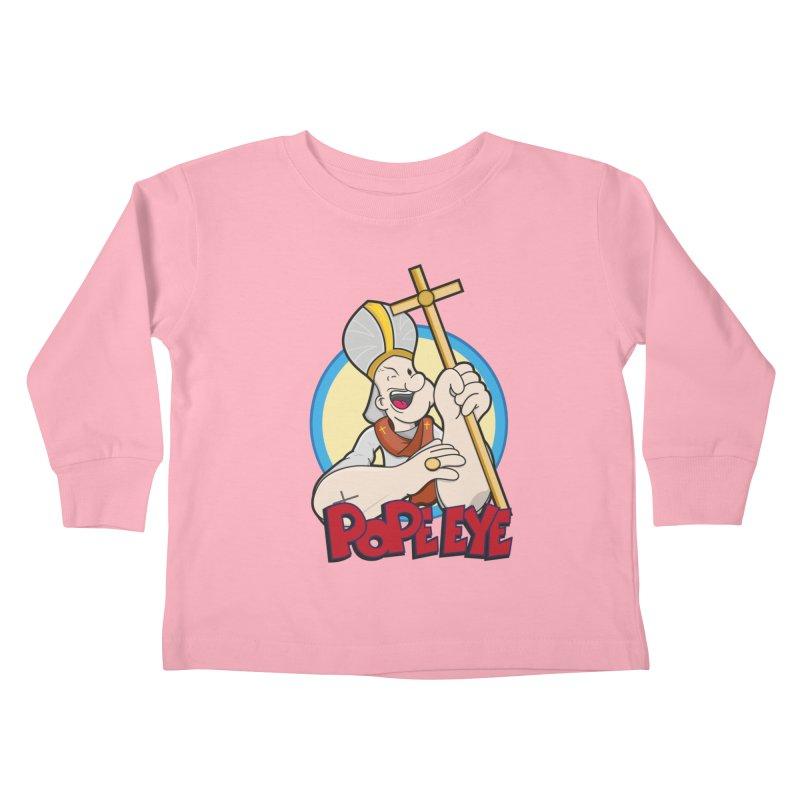 Pope Eye Kids Toddler Longsleeve T-Shirt by VarieTeez Designs