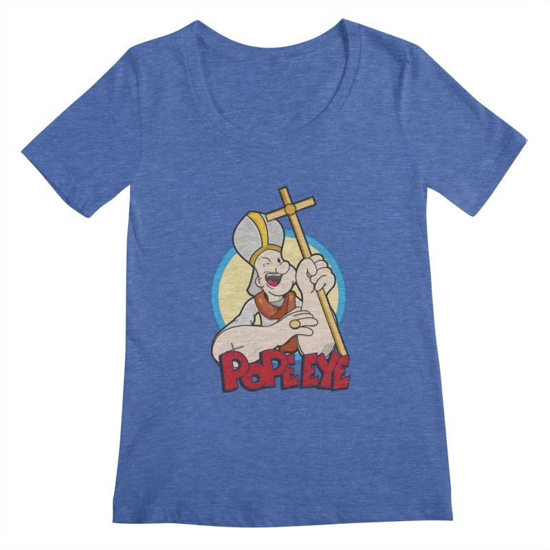 Pope Eye Women's Regular Scoop Neck by VarieTeez Designs